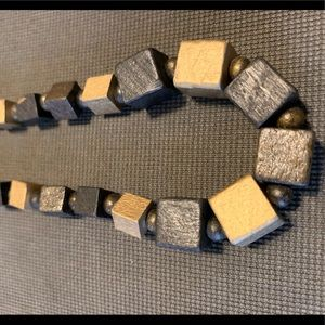"""Jewelry - 22"""" wooden necklace with earrings"""